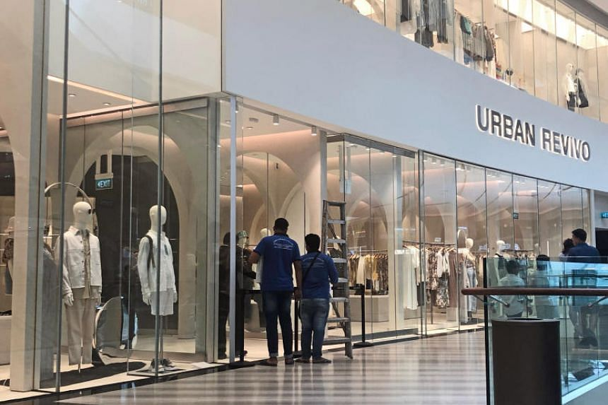 The Straits Times understands that the accident occurred at the Urban Revivo fashion store at Jewel Changi Airport.