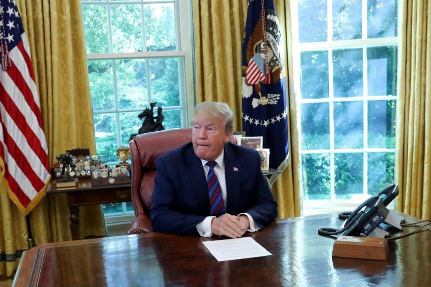 US President Donald Trump speaking in the Oval Office of the White House in Washington, on July 26, 2019.