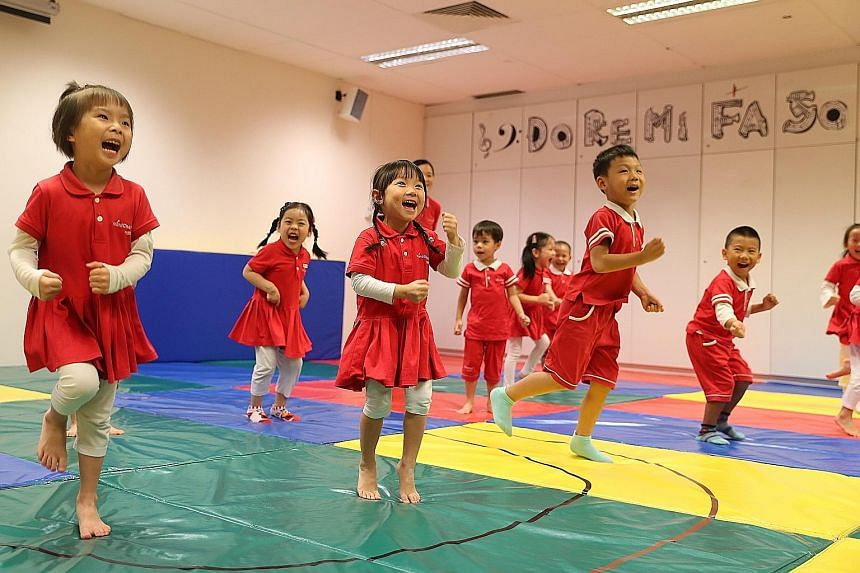 Chiltern House pre-schoolers enjoying a 30-minute playtime session involving a mix of children from K1 and K2 classes.