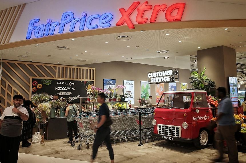 FairPrice Xtra at VivoCity is set to blow the competition away with its unusual offering of goods and services. The supermarket sells an assortment of live seafood (above). Vegetables are grown in a greenhouse in the supermarket, and harvested and so