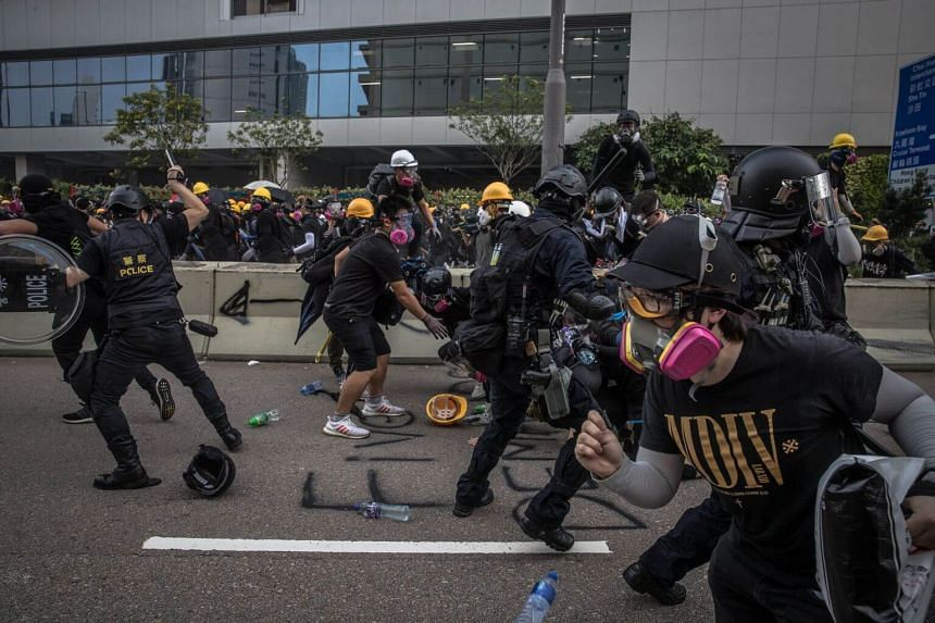 Hong Kong police said they arrested 29 people after clashes on Aug 24, 2019, in which volleys of tear gas were fired to break up anti-government protests.