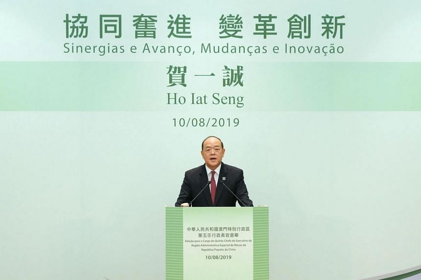 Mr Ho Iat Seng has been a deputy of China's National People's Congress (NPC) and a member of the NPC Standing Committee.