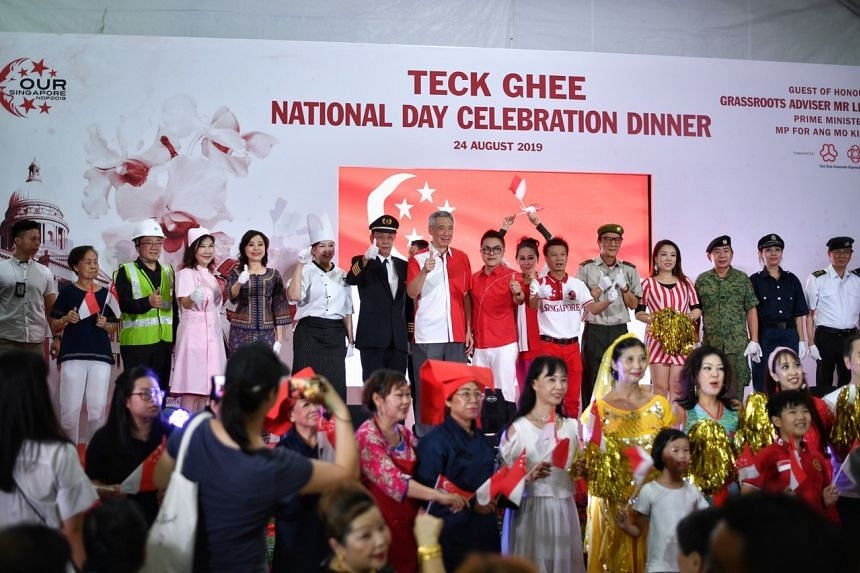 Prime Minister Lee Hsien Loong at the Teck Ghee National Day Celebration Dinner on Aug 24.