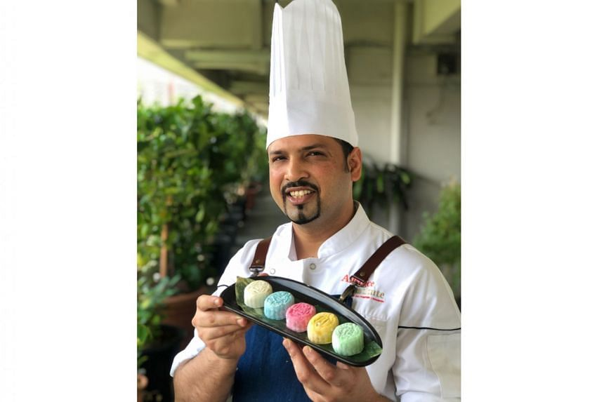 Executive sous chef Anup Kumar of cooking school Allspice Institute shares a recipe for snow skin mooncakes.