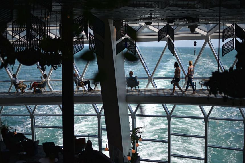 Full-length windows on the Celebrity Edge, which can accommodate 2,918 guests, give travellers endless ocean views.