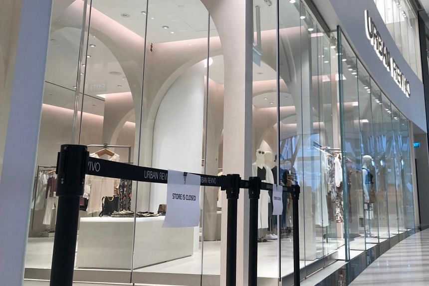 The Urban Revivo Store at Jewel Changi Airport on Aug 25, 2019.