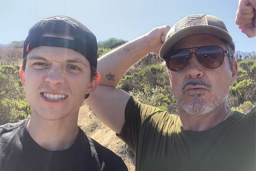 Tom Holland and Robert Downey Jr appeared together in four photos on Holland's Instagram account, as they looked to be having fun during the hiking.