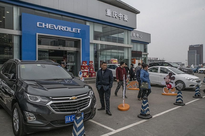 A Chevrolet dealership in Chongqing city in south-west China. United States President Donald Trump has ordered US companies to stop doing business in China and raised tariffs by 5 per cent on Chinese imports. Meanwhile, China has imposed additional t