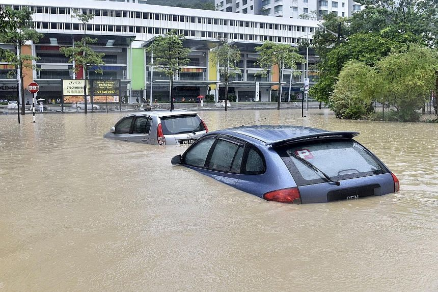 Flooding in George Town, Penang, in September 2017. Flood mitigation is now a pressing issue for the Malaysian state.