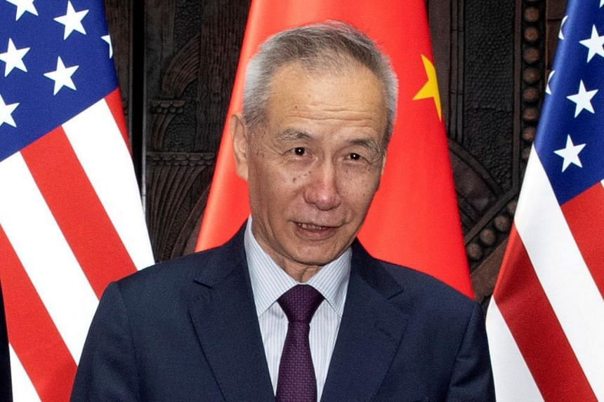 Chinese Vice-Premier Liu He said nobody benefited from a trade war and that China was willing to solve the problem through consultation and cooperation with a calm attitude.