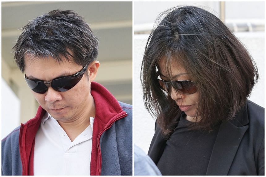 Tay Wee Kiat (left) and Chia Yun Ling started serving their jail terms for abusing Ms Moe Moe Than on March 27, 2019.