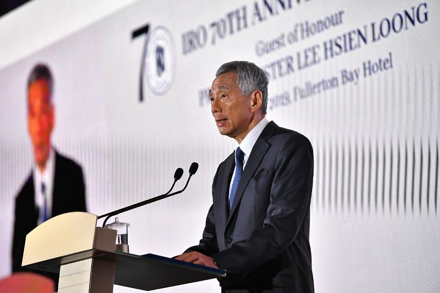 Prime Minister Lee Hsien Loong speaking at a gala dinner marking the 70th anniversary of Singapore's Inter-Religious Organisation on Aug 26, 2019.