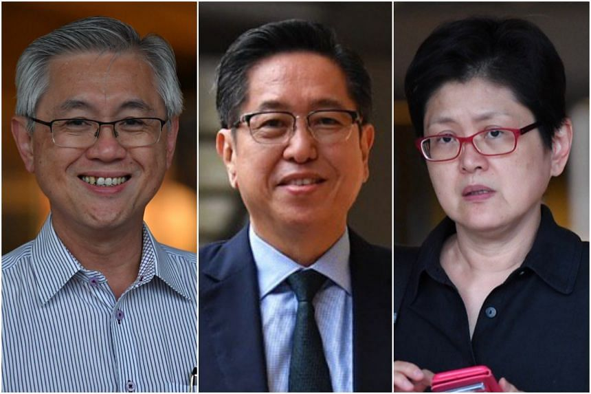 (From left) Mr Ong Boon Chuan, Mr Ong Teck Chuan and Ms Ong Siew Ann are being sued by their brother, Mr Ong Heng Chuan.