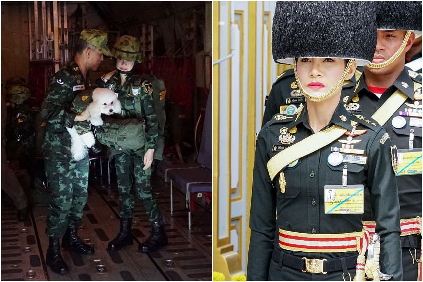 The unusually candid pictures of King Maha Vajiralongkorn's consort, 34-year-old Major-General Sineenat Wongvajirapakdi, were released along with her official biography.