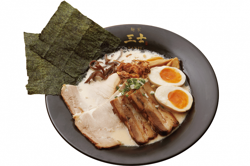 Japanese-owned eatery Menya Sanji Ramen has been serving the lesser-known style of Kagoshima ramen in Orchid Hotel at Tanjong Pagar for seven years. Pictured: Special Sanji Ramen.