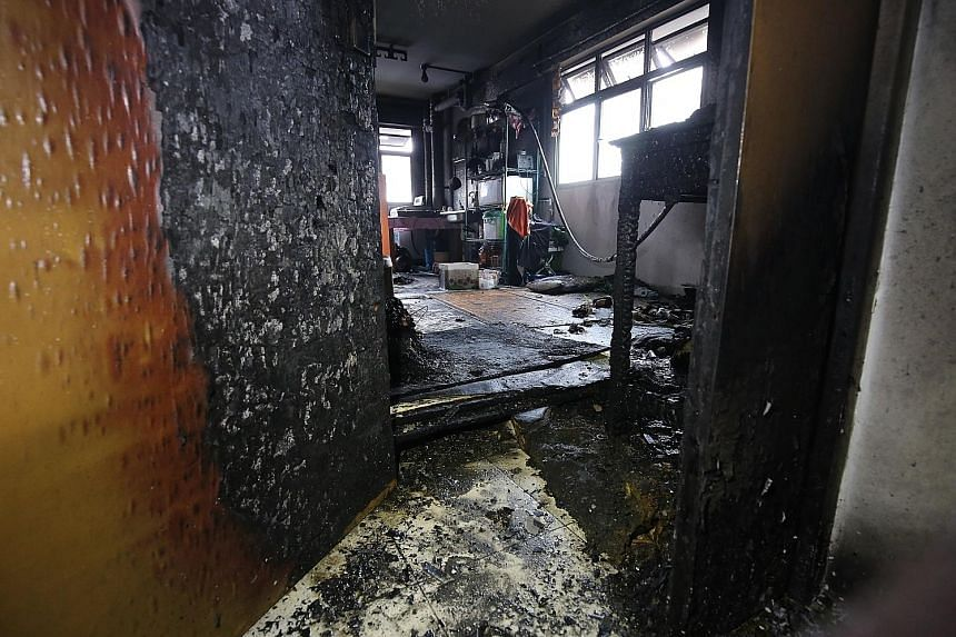 A preliminary probe into the cause of the fire indicated that it was of an electrical origin from a PMD that was charging.