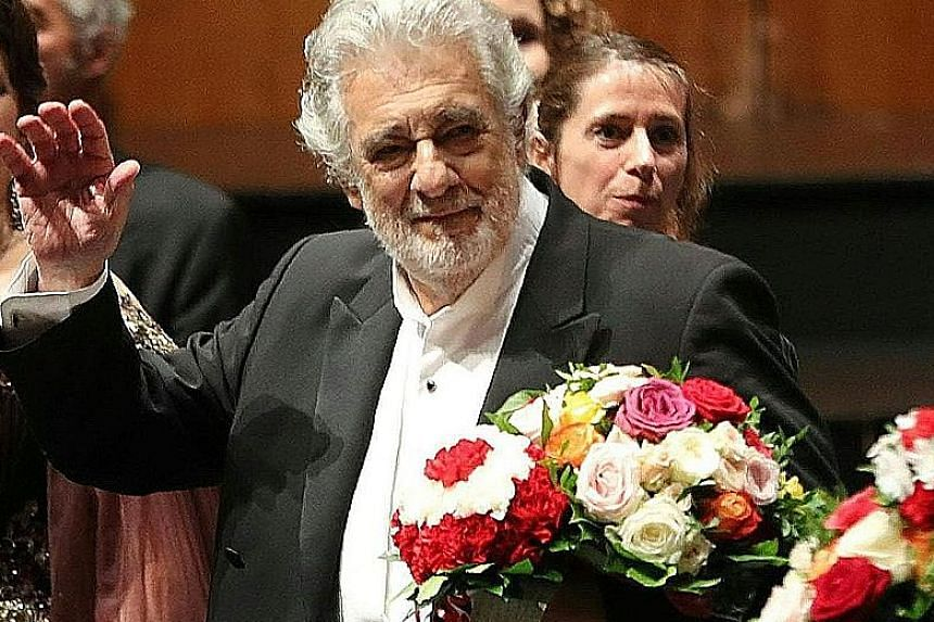 Opera singer Placido Domingo during the performance of Luisa Miller at the Salzburg Festival on Sunday.