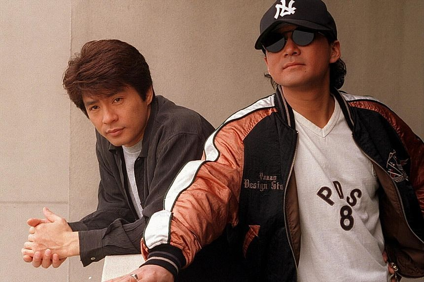 Aska (far left, in a 2005 photo with Chage) announced he was officially leaving the duo on Sunday.