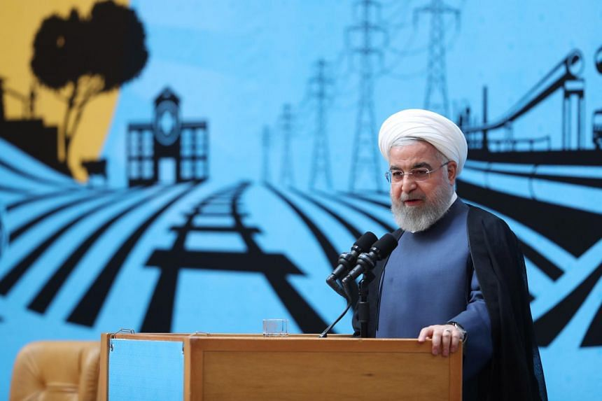 Iran's President Hassan Rouhani speaking during an exhibition about government achievements, in Tehran, Iran, on Aug 26, 2019.