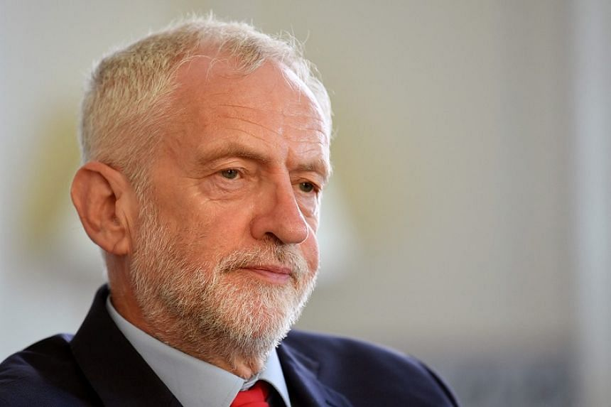 Britain's opposition Labour Party leader Jeremy Corbyn preparing to meet leaders of Britain's other political parties to discuss options for Brexit in London on Aug 27, 2019.