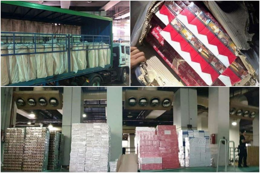 The contraband cigarettes were hidden within a consignment of paper rolls on a Malaysia-registered lorry.