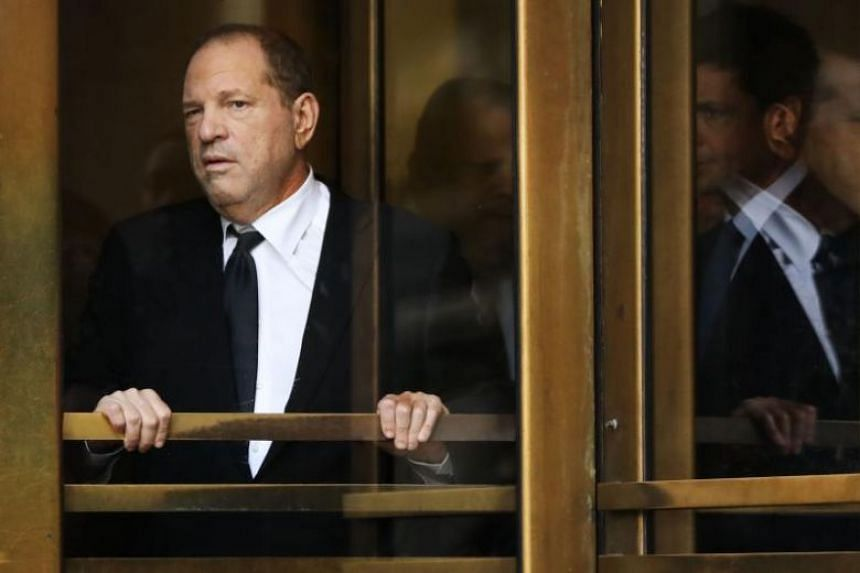 Harvey Weinstein was in and out of a Manhattan courthouse quickly to enter the plea.