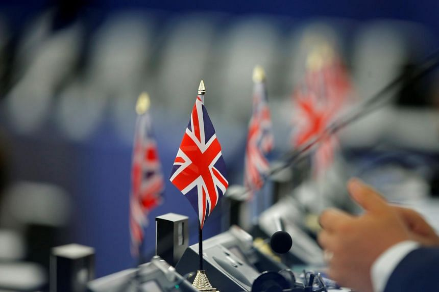British Union Jack at the European Parliament, on July 4, 2019.