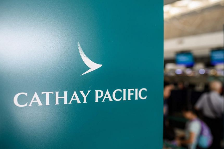 Hong Kong carrier Cathay Pacific Airways said police had banned a planned protest around its Cathay City headquarters on Lantau island, next to Hong Kong's international airport, on Wednesday evening, making it illegal.