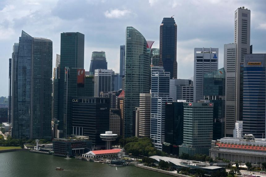 Buildings in Singapore's central business district, on Jan 9, 2019. Candidates were evaluated on metrics such as their average five-year sales, operating income growth, return on capital, and projected growth over the next one to two years.