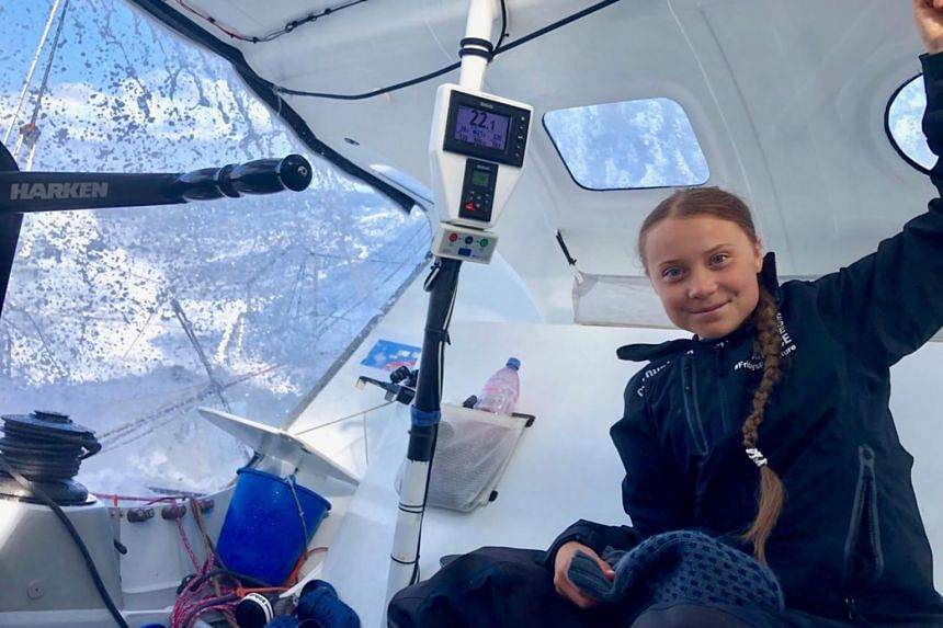 The yacht climate activist Greta Thunberg is on is under 100km from New York and is expected to arrive by the evening of Aug 28, 2019.