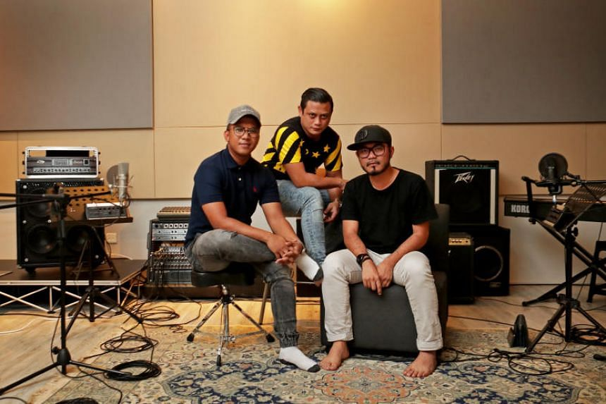 (From left) The voices behind independent podcast OKLETSGO Dzar Ismail, Raja RaZie and Dyn Norahim. Each of their nine-a-week episodes pulls in 30,000 listeners, most of whom are in the 25 to 35 age group.