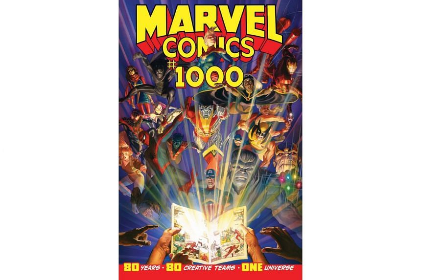 The Marvel Comics 1000 issue pays homage to many of Marvel's most recognisable characters.