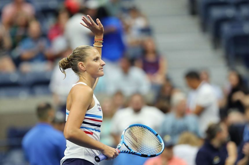 US Open: Karolina Pliskova advances to third round under the roof