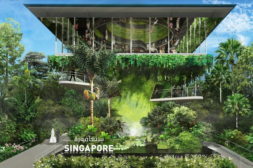 Titled Nature. Nurture. Future, the Singapore Pavilion will showcase Singapore's City in a Garden image.