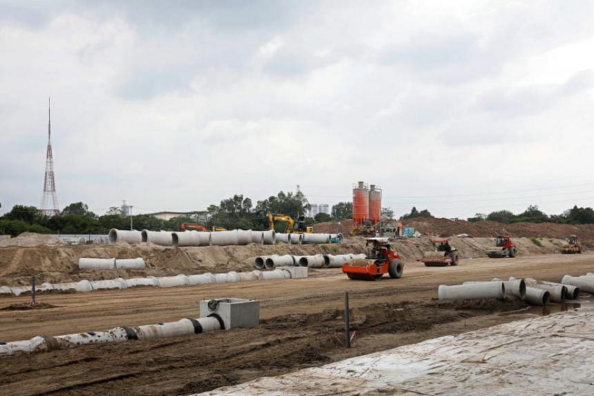 The Hanoi Formula One Grand Prix construction site. Vietnam will host its first race through the streets of the capital Hanoi on April 5, 2019.