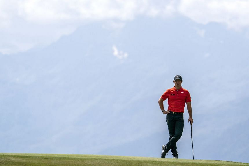 McIlroy during the first round of the European Masters golf tournament in Crans-Montana, Switzerland.