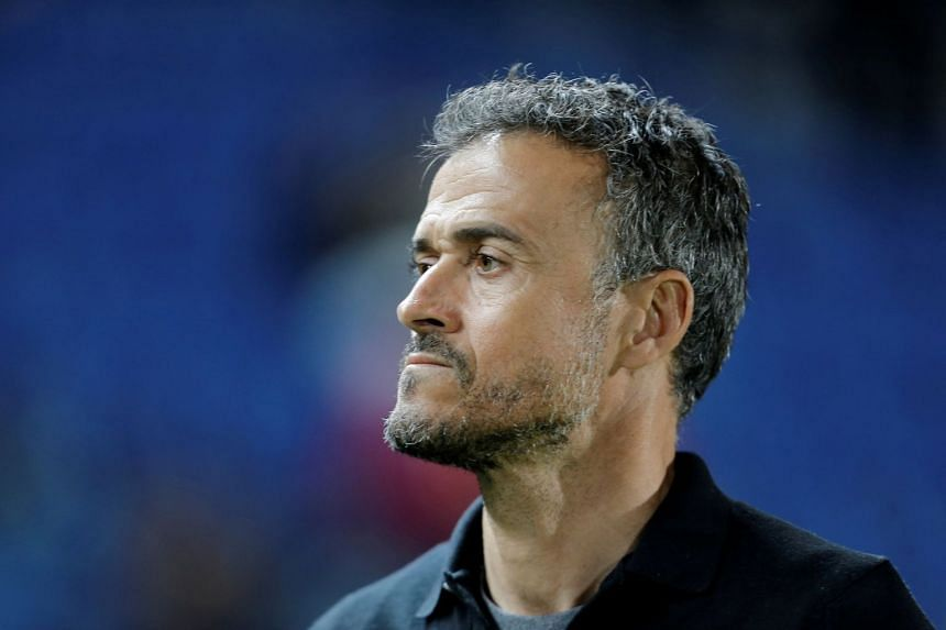 Former Spain coach Luis Enrique before a match in 2018.