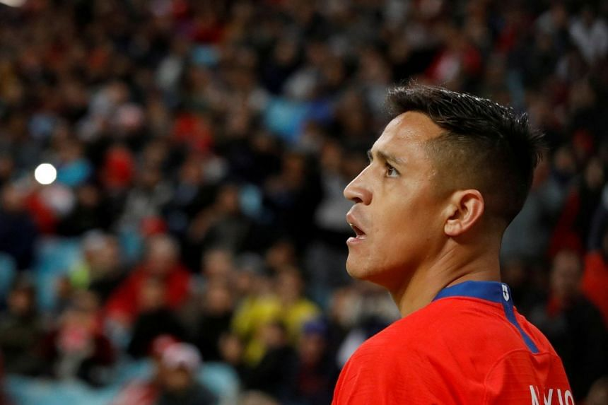 Sanchez (above) scored just five goals in 45 appearances for United and has not featured so far this season.