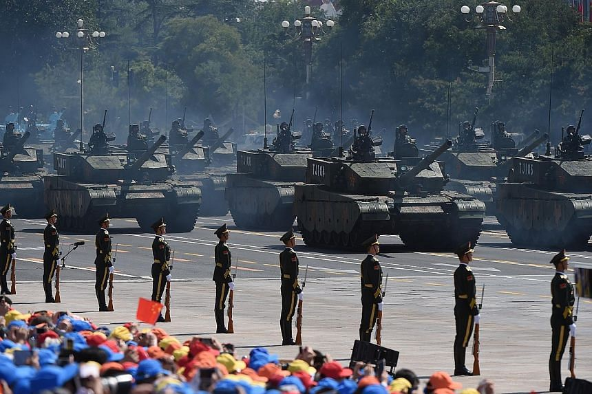 China is used to marking anniversaries with large military parades, including the biggest in 2015 commemorating the 70th anniversary of the end of World War II. Beijing yesterday unveiled plans for a massive military parade to celebrate the 70th anni
