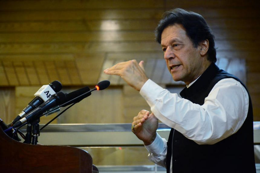 """Pakistani Prime Minister Imran Khan (above) says his country will give a """"befitting response"""" to the government of Indian Prime Minister Narendra Modi if it attacks Pakistan."""