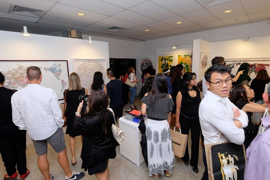 Visitors at the Affordable Art Fair in Nov 2017. The 2019 edition will be held at the F1 Pit Building from Nov 22 to 24.