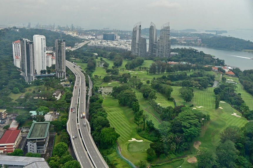Aerial view of Keppel Club which will accommodate about 9,000 apartments after the land lease expires.