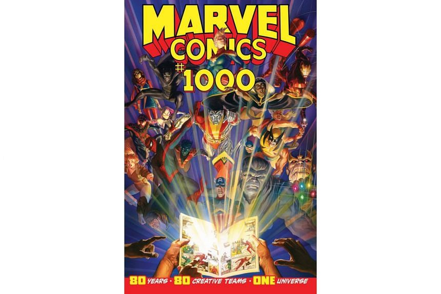 The Marvel Comics 1000 issue pays homage to many recognisable characters, including Iron Man, Hulk and Spider-Man, and also spotlights some lesser-known ones.