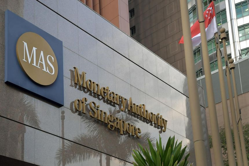 The Monetary Authority of Singapore building in Shenton Way.