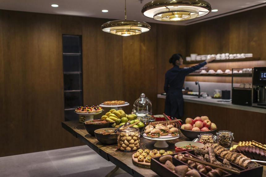 Cathay Pacific's flagship lounge, The Pier First Class Lounge in Hong Kong.