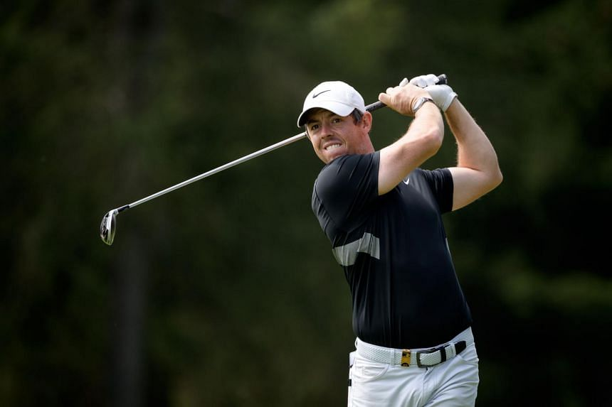 Northern Ireland's Rory McIlroy plays a shot during a pro-am tournament ahead of the PGA European Tour golf tournament Omega European Masters on Aug 28, 2019.