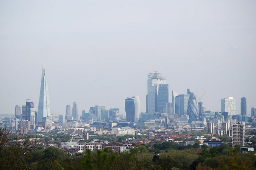The skyline of London, on June 21, 2019. Business confidence declined in every region of the United Kingdom.