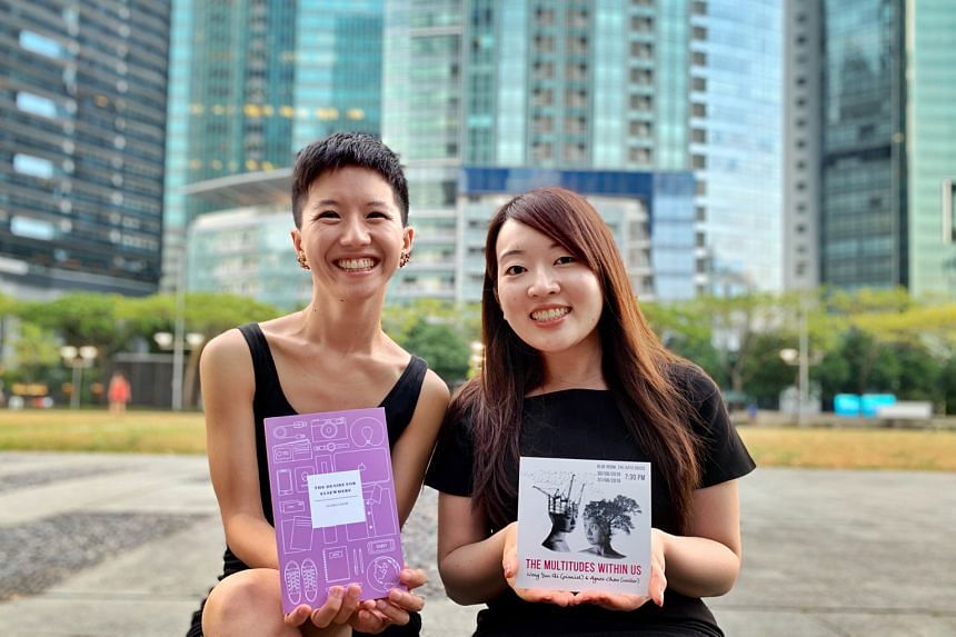 Singaporean pianist Wong Yun Qi (left) and writer Agnes Chew (right).