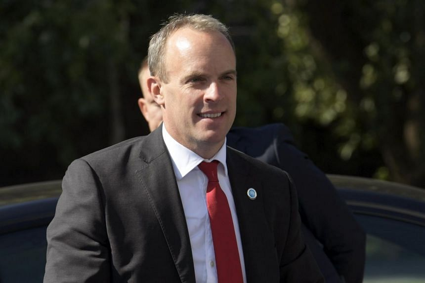 British Foreign Secretary and First Secretary of State Dominic Raab arrives the Informal Meeting of the EU Foreign Ministers in Helsinki, Finland on Aug 29, 2019.