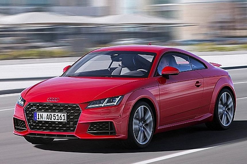 Revamped Audi TT coupe arrives.